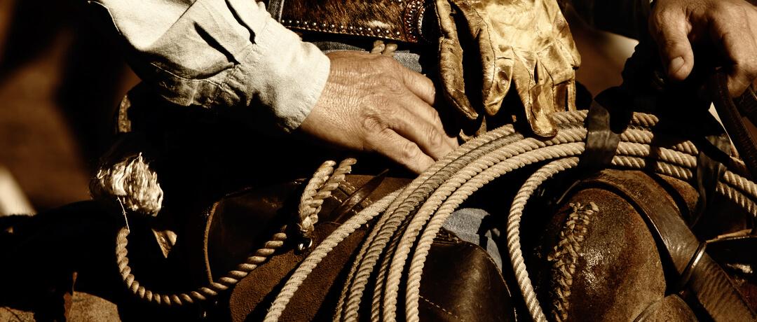 Cuidando de seu laço de Cowboy