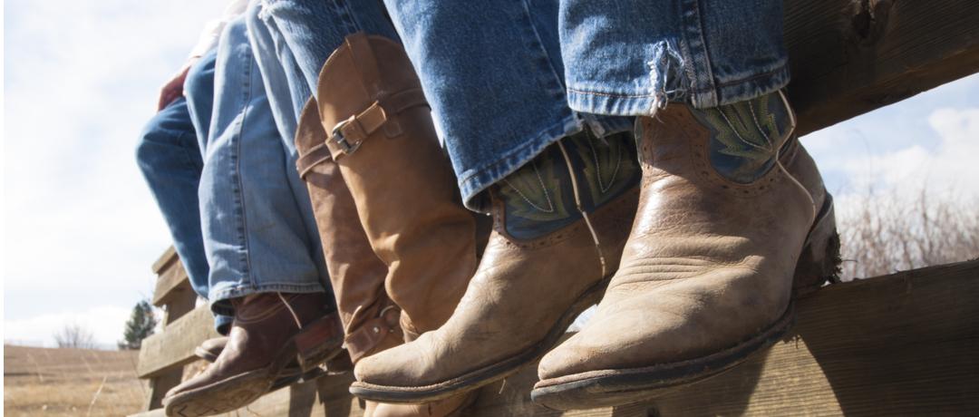 bota de cowboy masculina